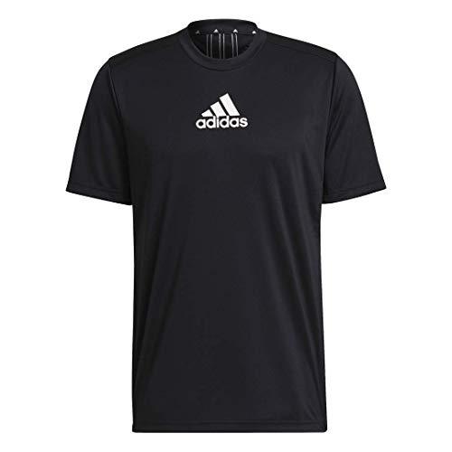 adidas Men's Primeblue Designed 2 Move 3-Stripes Tee 4