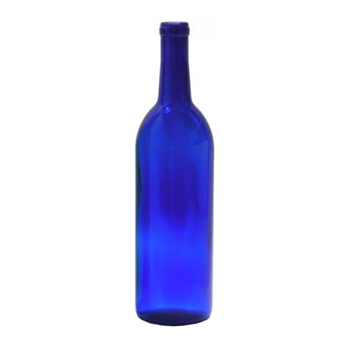 Midwest Homebrewing and Winemaking Supplies 750 ml Cobalt Glass Claret/Bordeaux Bottles (12 per case), Blue