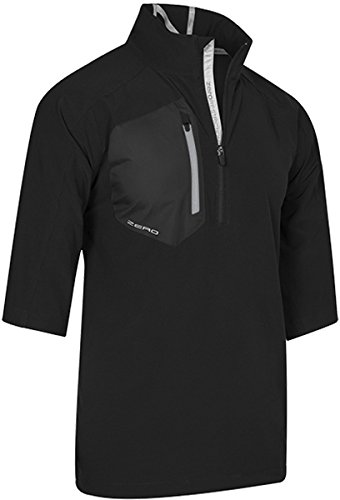 Zero Restriction Men's Z700 Half Sleeve Wind Jacket, Black, XX-Large (Zero Half Restriction Sleeve Lightweight)