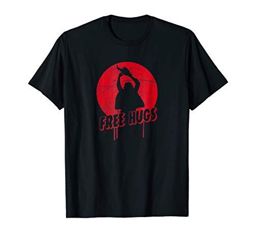 Chainsaw Horror Man - Free Hugs Halloween T-Shirt ()