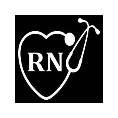 "Chase Grace Studio Nurse Nursing RN LPN StethoscopeVinyl Decal Sticker|White|Cars Trucks Vans SUV Laptops Wall Art|5.5"" X 5.5""|CGS346: Automotive"
