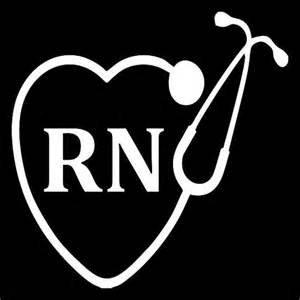 [Nurse Nursing RN LPN StethoscopeVinyl Decal Sticker|WHITE|Cars Trucks Vans SUV Laptops Wall Art|5.5
