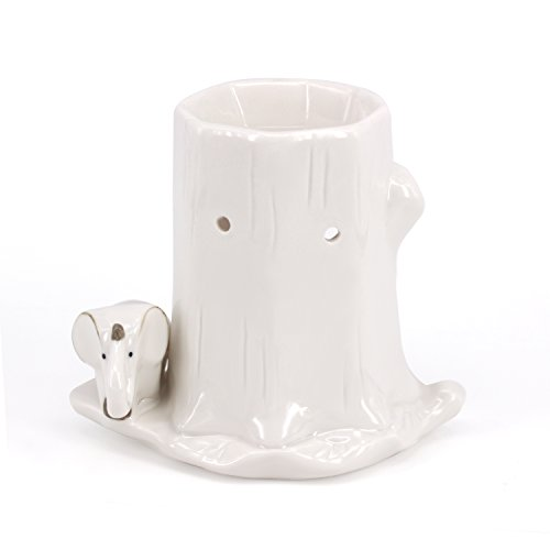 DELIWAY Animal Design Ceramic Tea Light Holder/Wax Melt Warmer, Handcrafted Essential Oil Warmer Aromatherapy Burner, Great Decoration for Living Room, Balcony, Spa, Yoga Meditation (Elephant)