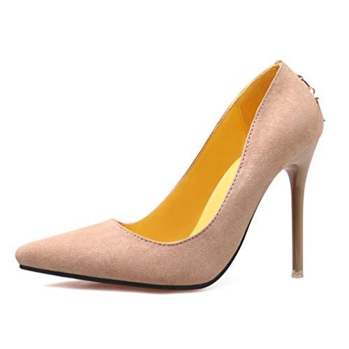 (Sam Carle Women's Pumps,Simple Fashion Sude Sexy High Heel Green Khaki Formal Office Pump)
