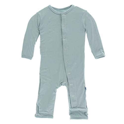 Kickee Pants Little Boys Girls Solid Coverall Snaps - Jade, 18-24 Months (Girls Pants Jade)