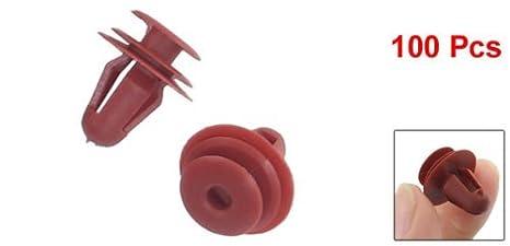 Amazon.com: eDealMax 100 piezas DE 10 mm de diámetro del agujero vehículo Rojo puerta de plástico Remaches Sujetadores: Automotive