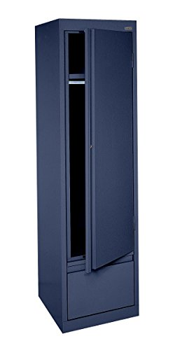 Sandusky Lee HAWF171864-A6 System Series Single Door Wardrobe with File Drawer, Navy Blue