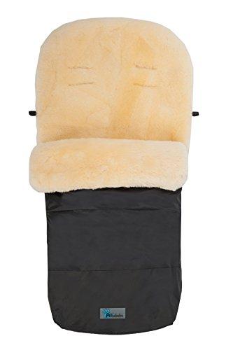 Altabebe MT2200LP-65 Winter Lammfellfußsack für Kinderwagen Nordkap Kollektion 12-36 monate, schwarz