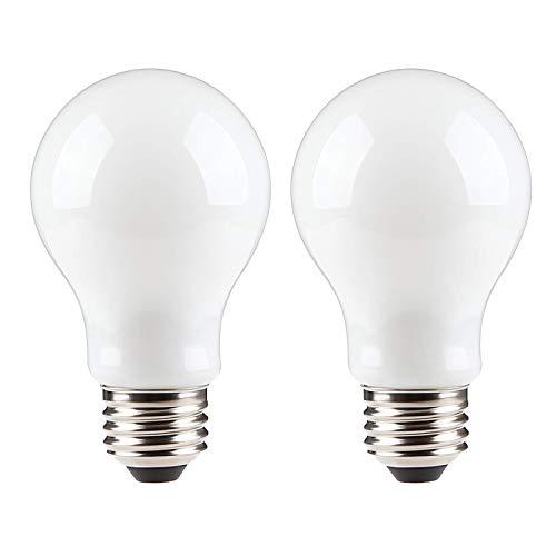 AKT Dimmable LED Light Bulb, 800 Lumen 7.7W Equivalent 60 Watt A19 E26 LED Bulbs, 3000K/5000K Frosted Glass, Indoor/Outdoor, UL Certified Energy-Saving Light Bulbs (2Pack,3000K)