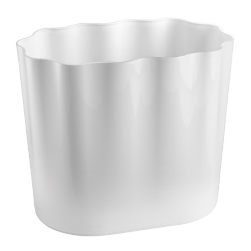 Scallop Basket - InterDesign Scallop Wastebasket Trash Can for Bathroom, Kitchen, Office - 10