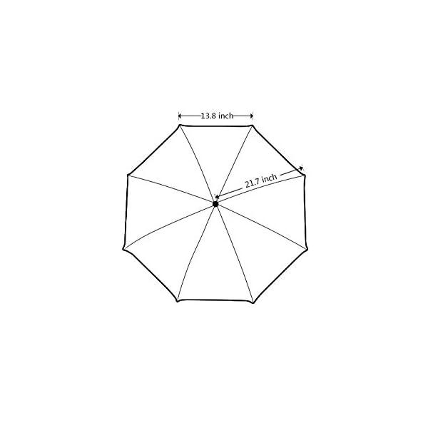 Artsadd Fashion Umbrella Poodle Umbrella Black Foldable Sun Rain Travel Umbrella 5