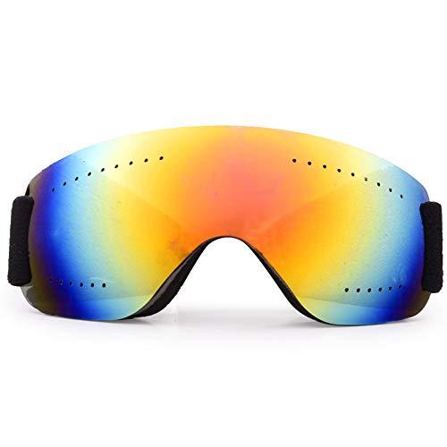 Jusheng Nuevas Gafas de esquí Masculinas Femeninas Adultas antiniebla y a Prueba de Arena Motocicleta Gafas de esquí de montaña Alpinismo Gafas (Color : Red)