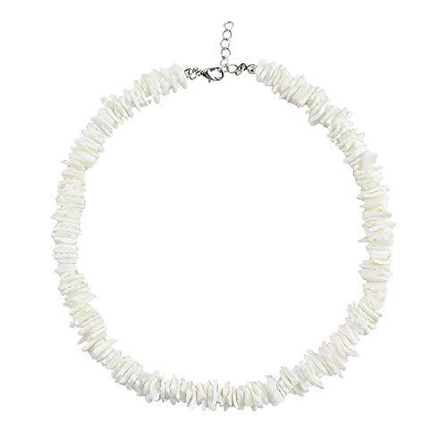 (Daogtc Natural Cowrie Shell Necklaces Beads Handmade Beach Choker for Girls Women (Brown 2))