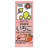 キッコーマン 豆乳飲料 いちご 200ml紙パック×18本入×(2ケース)