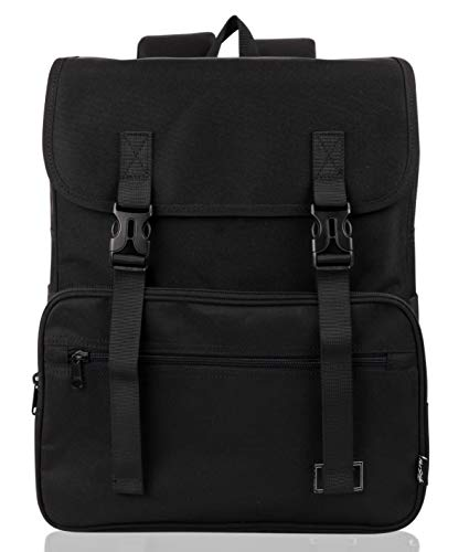 SmileDay Vintage Flap Bookbag College Backpack | Fits 15.4