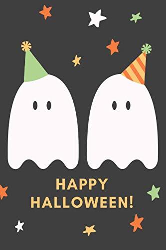Happy Halloween!: Das 120 Seiten linierte Notizbuch ca. A5 Format. Das perfekte Geschenk für alle Halloween Fans, wenn es nichts Süßes oder Saures sein soll. (German -