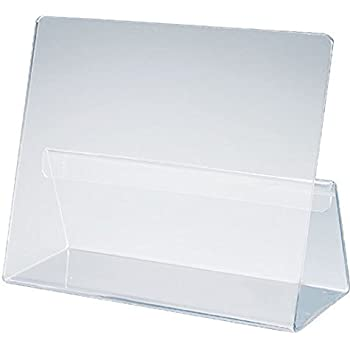classic cookbook holder simple elegant clear acrylic made in the usa