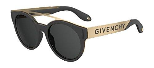 Sunglasses Givenchy Gv 7017 /N/S 02M2 Black Gold / IR gray blue - Givenchy Men Sunglasses