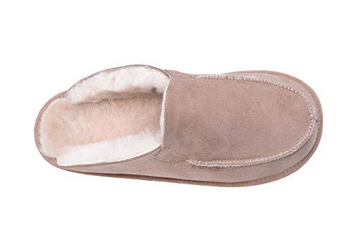 Donna Unisex Beige Pantofole Bianco di Pecora Calde Fodera W44 Lana Uomo Rusnak con in e per w7AqUxfT