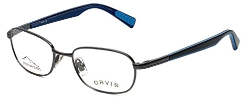 Orvis Designer Eyeglasses Target in Gunmetal-Blue 48mm - Target Glasses Prescription