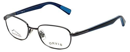Orvis Designer Eyeglasses Target in Gunmetal-Blue 48mm - Prescription Target Glasses