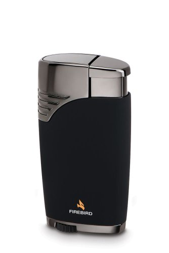 (Firebird Charger Lighter Double Jet Torch Flame - Black)