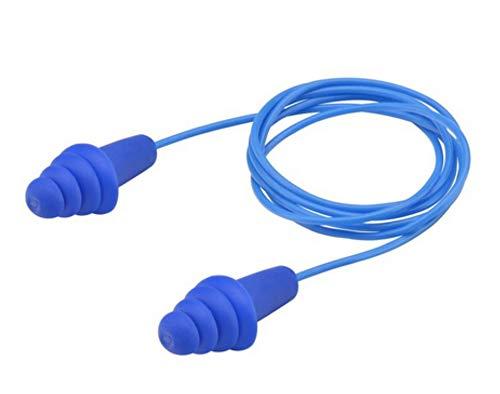 (Elvex Quattro Ep-413 Corded Reusable Ear Plug - 25 Nrr, 1 Pair, No Case)