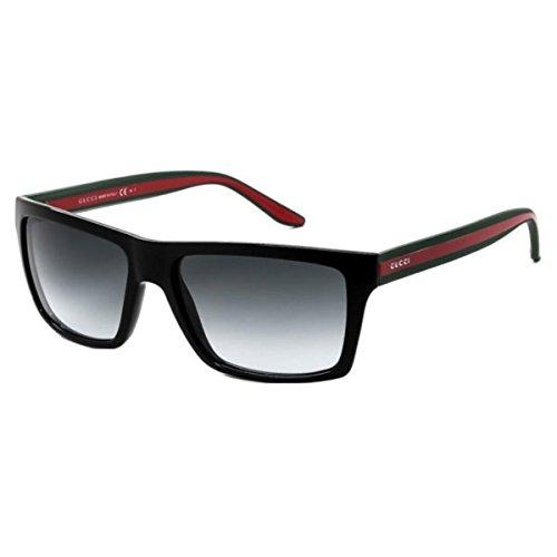 Gucci Womens UV Protection Polarized Rectangle Sunglasses Black O/S