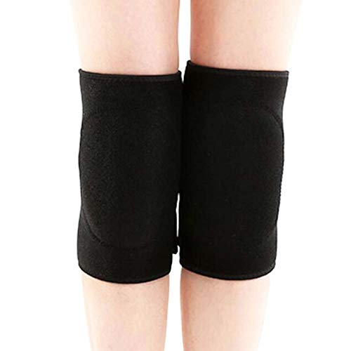 George Jimmy One Pair Knee Sleeve Pad Support Protector Unisex Yoga/Dance/Exercise Fitness Protective Joint Non-Slip Breathable Adjustable Knee Pads Knee Sleeve Knee Braces Protection(Black)