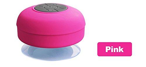 Trolax(TM) Bluetooth Speaker Portable Mini Wireless Waterproof Shower Speakers for Phone MP3 Bluetooth Receiver Hand Free Car Speaker BS001 [ pink ]