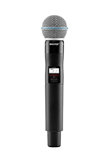 (Shure QLXD2/B58 Handheld Wireless Transmitter with BETA 58A Microphone, V50)