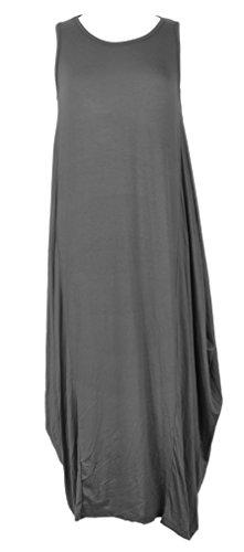 TEXTUREONLINE - Vestido - Sin mangas - para mujer gris oscuro