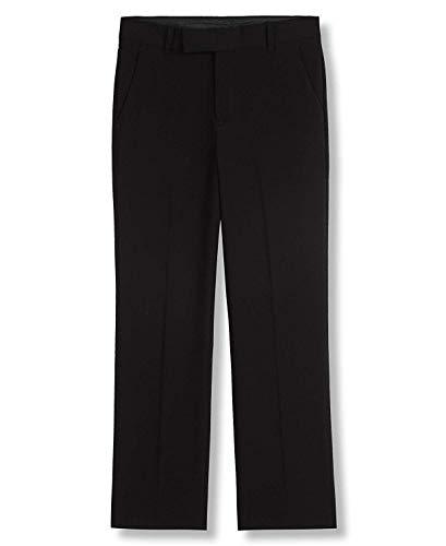 Calvin Klein Big Boys' Flat Front Pant , Black, 16 ()