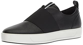 ECCO Women's Soft 8 Slip-on Sneaker, Black Band, 35 M EU (4-4.5 US)