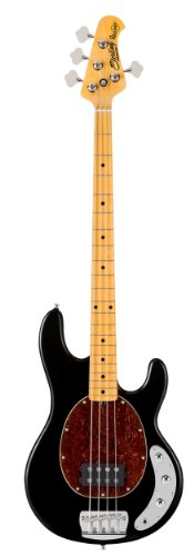 Sterling By MusicMan RAY34CA-BK 4-String Classic Active Bass Guitar, Black