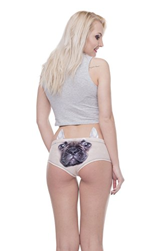 stampata Europa 3D animale Cartamodello Uniti D slip a B vita design pieces con Stati Biancheria in intima 5 Color e da Nuovo Dimensione bassa Bendwy donna wv7EAA