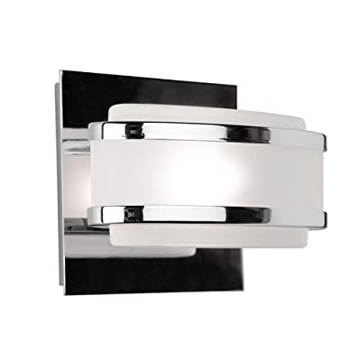 Artcraft Lighting AC531BN Boulevard One-Light Vanity Fixture, Brushed Nickel