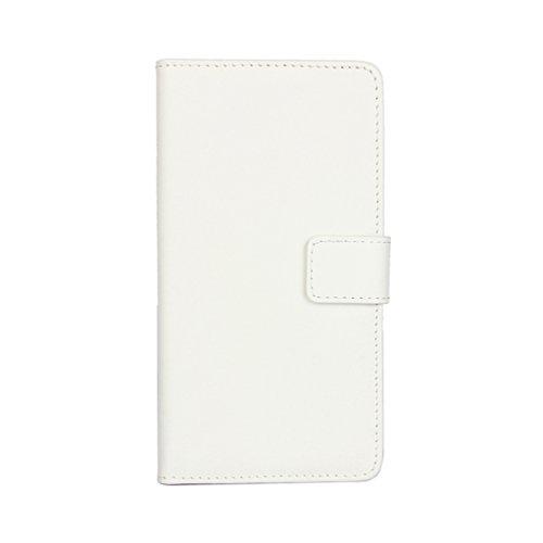 Trumpshop Smartphone Carcasa Funda Protección para Apple iPhone 7 (4.7-Pulgada) + Violeta + Ultra Delgada Cuero Genuino Caja Protector con Función de Soporte Choque Absorción Blanco