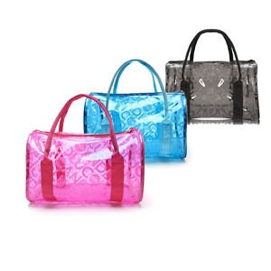 3b5f83cefa Image Unavailable. Image not available for. Colour  Women Clear Jelly  Waterproof Swimming Swimsuit Bag Transparent Handbag Blue