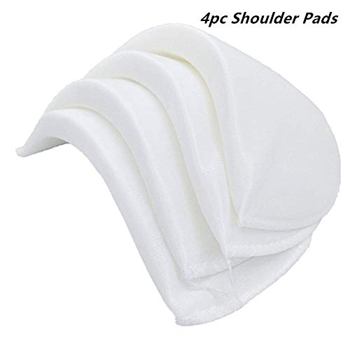 YEQIN Covered Set-in Shoulder Pads (2 Pair of White)
