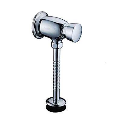 Brass Exposed Urinal Flush Valve - Button Type Manual Time-extended Shut-off Valve, Polished Chrome