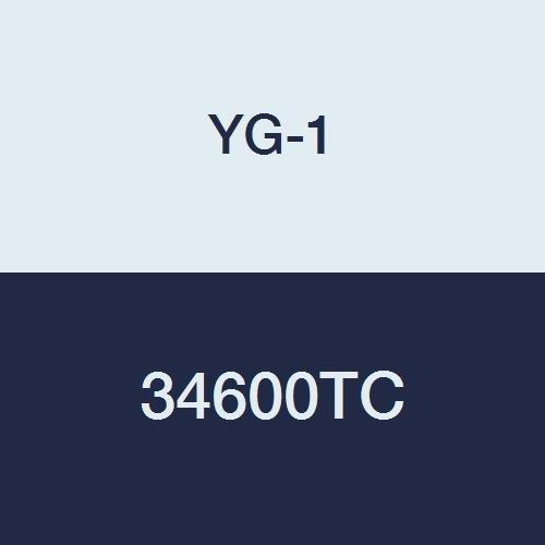 45 Degree Helix 1 YG-1 34600TC Carbide End Mill Regular Length TiCN Finish 4 Length 3 Flute