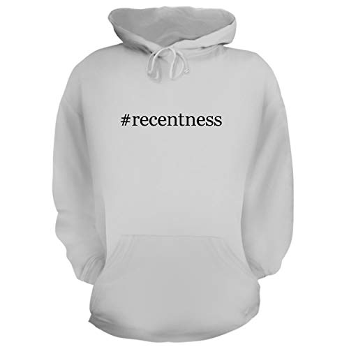 BH Cool Designs #Recentness - Graphic Hoodie Sweatshirt, White, Small
