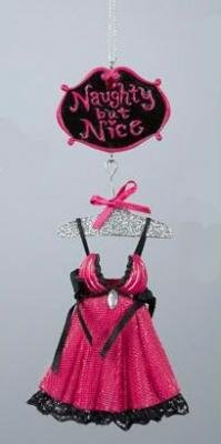 Fashion Avenue Naughty But Nice Sexy Lingerie Christmas Ornament 6.25""