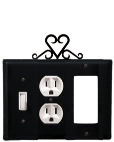 ESOG-51 Heart Switch Outlet GFI Electric Cover