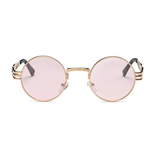 Redondas de Unisex de Viaje Verano Retro Sol Sol de Sunglasses Logobeing Vintage C Dde Retro Aviador Gafas Gafas qYAZwxnfHt