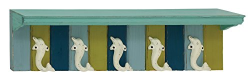 Deco 79 55578 Wood & Metal Wall Shelf Hook