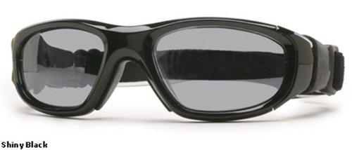 Rec Specs Protective Sports Eyewear- Maxx 21 - Shiny Black/ Silver Flash by Rec Specs (Image #1)