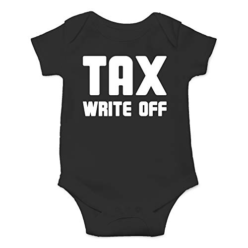 Tax Write Off - Accountant Husband - Funny Cute Infant Creeper, One-Piece Baby Bodysuit (Black, Newborn)