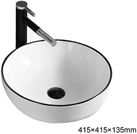 シンク、浴室家庭用カウンタ流域コンテンポラリーセラミック盆地ホワイト流域洗面器矩形トップ,Figure 1